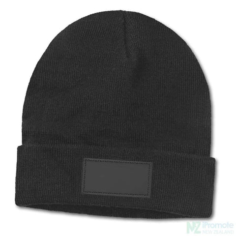 Everest Beanie With Patch Black Beanies