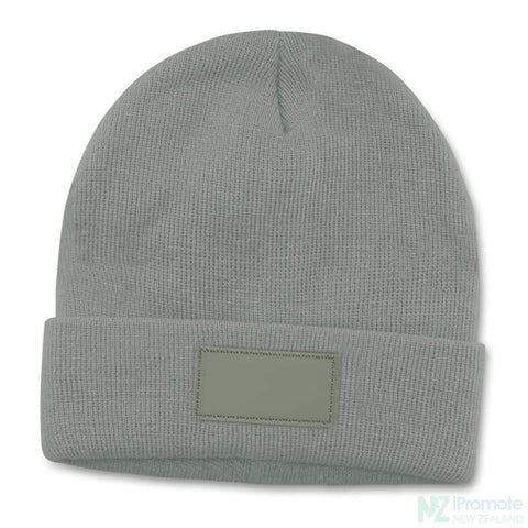 Everest Beanie With Patch Light Grey Beanies