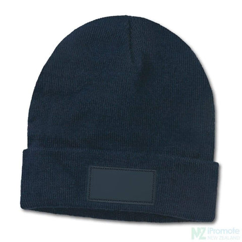 Everest Beanie With Patch Navy Beanies