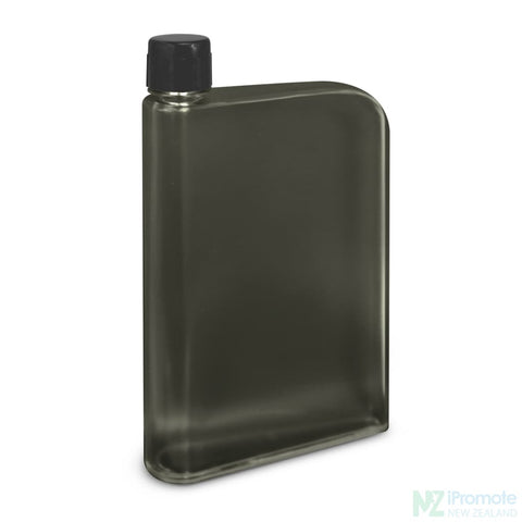 Image of Flat 400Ml Business Water Bottle Black Drink