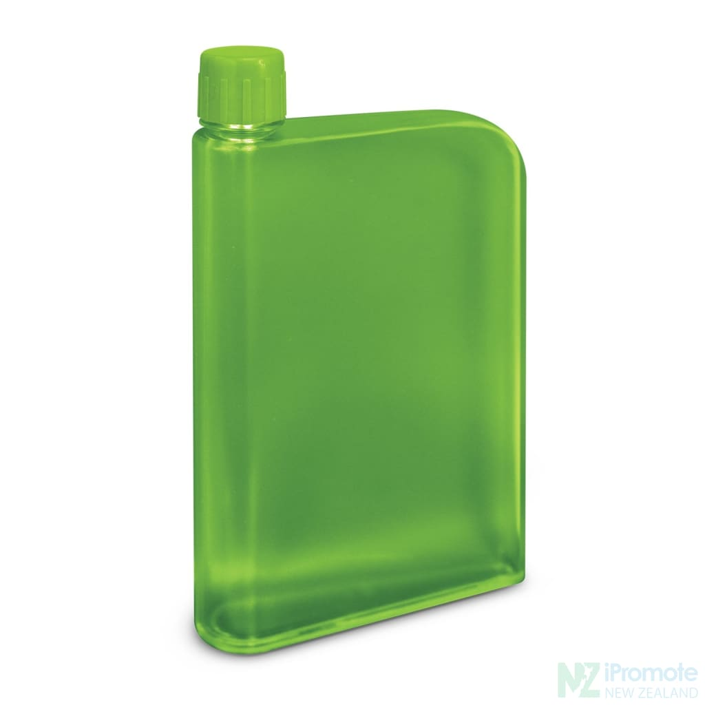 Flat 400Ml Business Water Bottle Green Drink