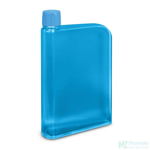 Image of Flat 400Ml Business Water Bottle Light Blue Drink