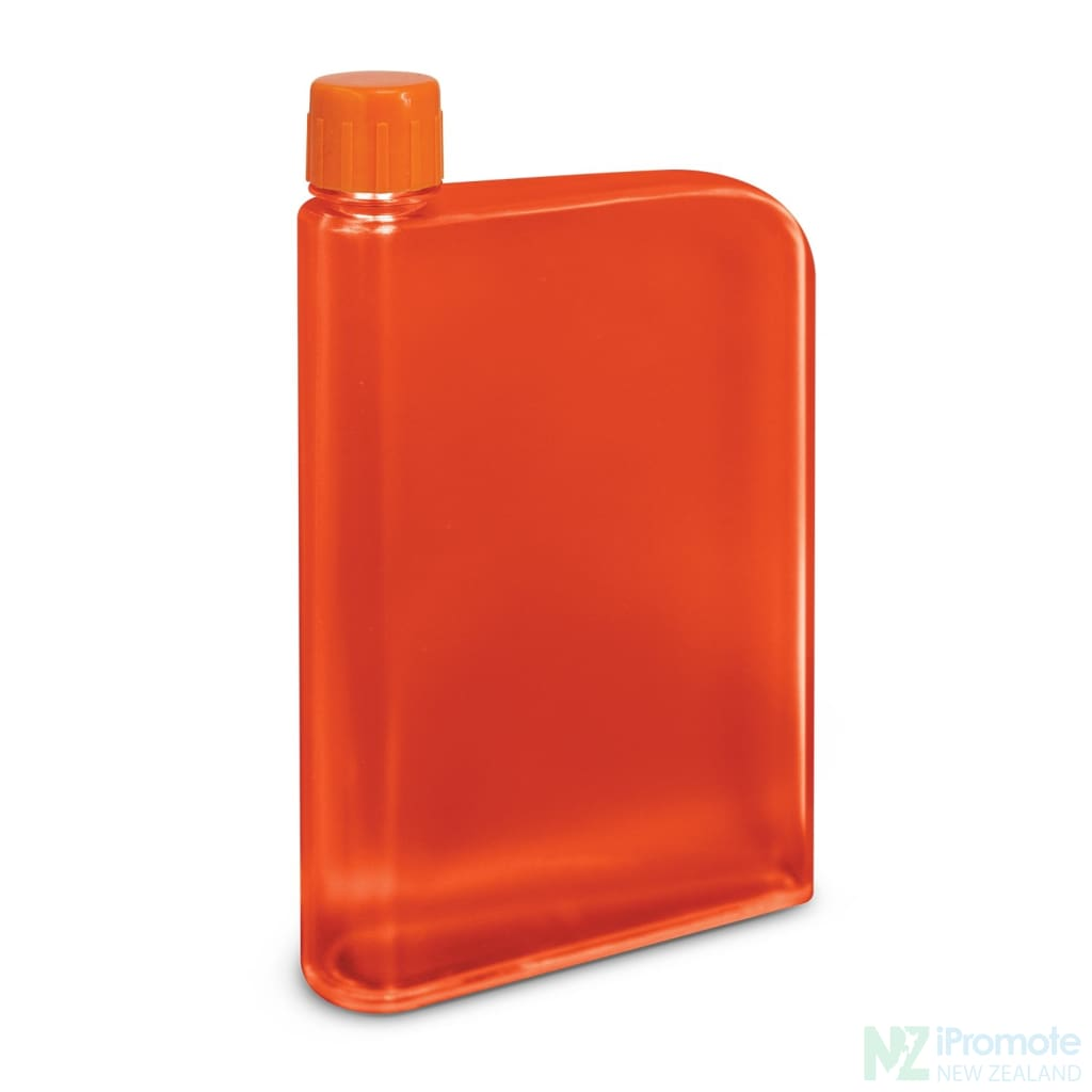 Flat 400Ml Business Water Bottle Orange Drink