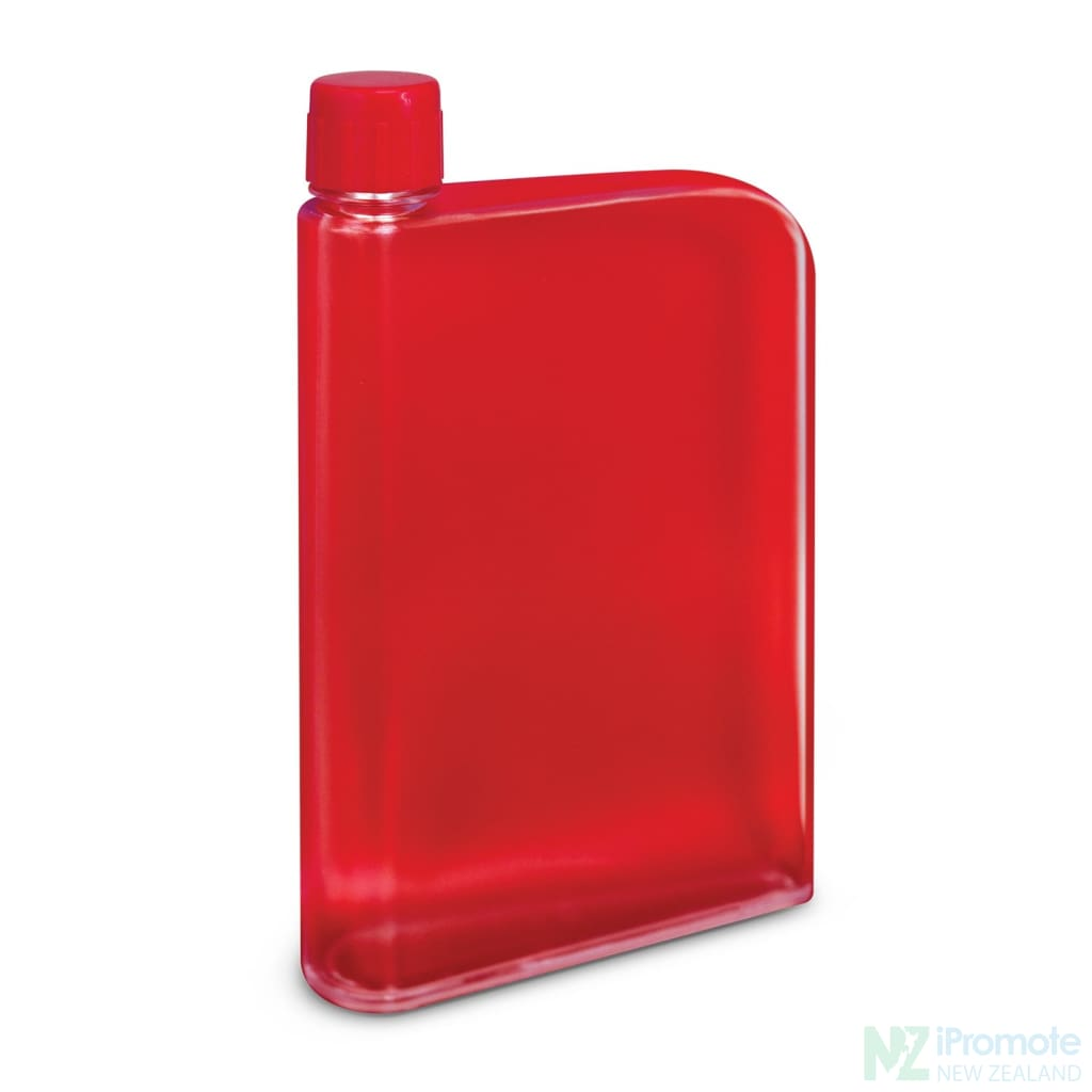Flat 400Ml Business Water Bottle Red Drink