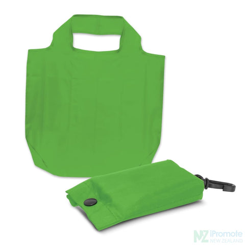 Image of Fold Away Reusable Shopping Bag Bright Green Tote Bags