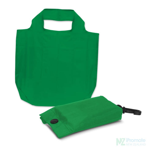 Image of Fold Away Reusable Shopping Bag Dark Green Tote Bags