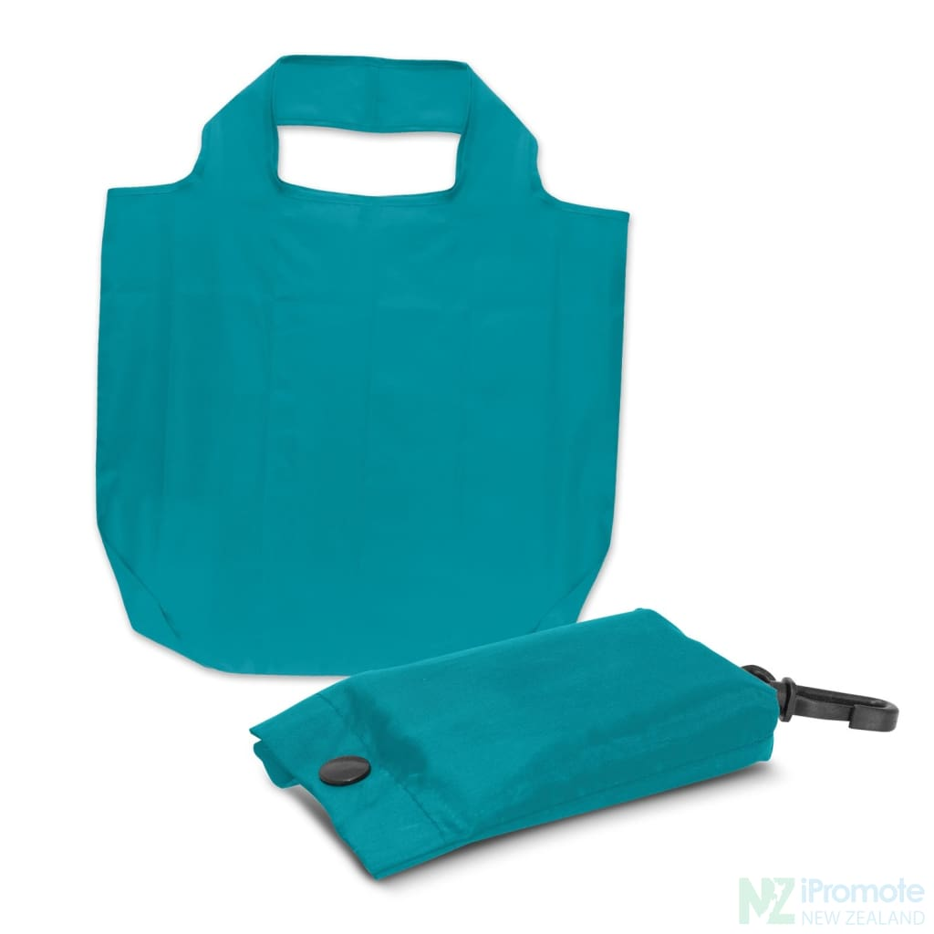 Fold Away Reusable Shopping Bag Light Blue Tote Bags