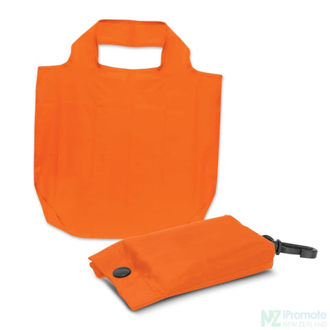 Image of Fold Away Reusable Shopping Bag Orange Tote Bags