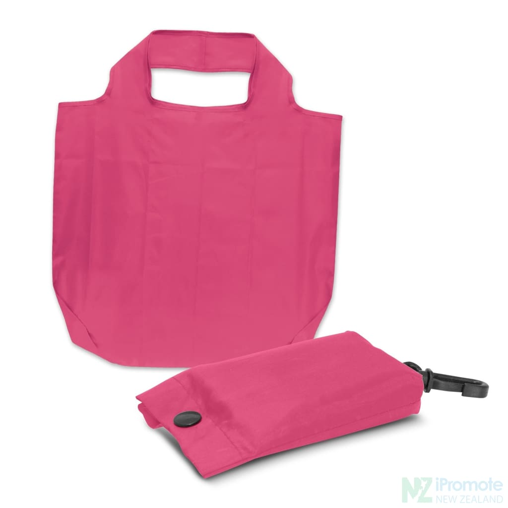 Fold Away Reusable Shopping Bag Pink Tote Bags