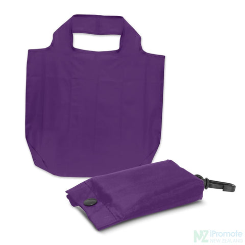 Image of Fold Away Reusable Shopping Bag Purple Tote Bags