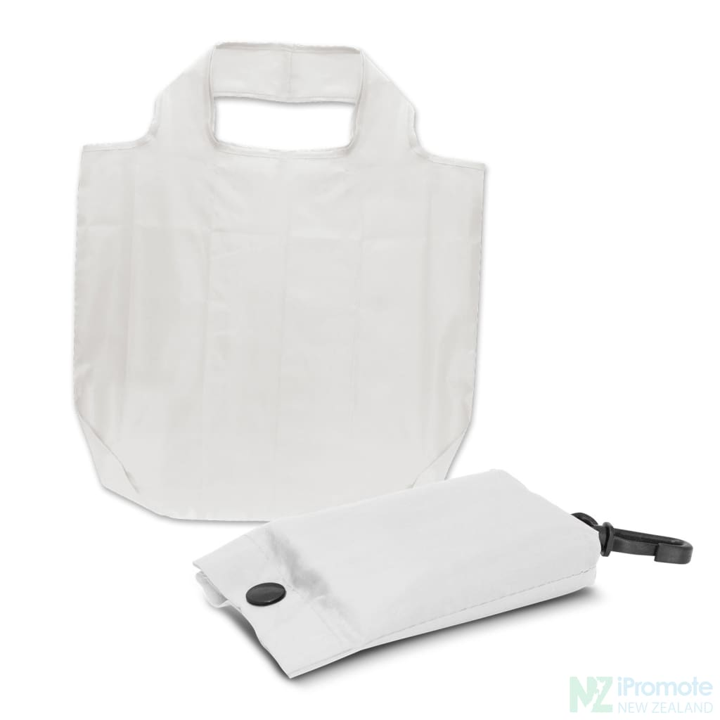 Fold Away Reusable Shopping Bag White Tote Bags