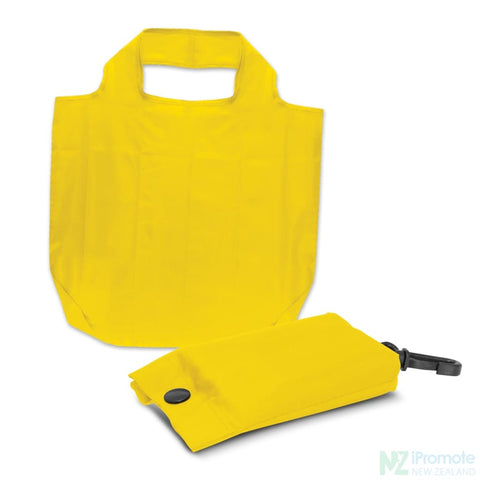 Image of Fold Away Reusable Shopping Bag Yellow Tote Bags