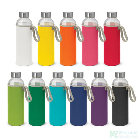 Image of Glass Drink Bottle With Neoprene Sleeve