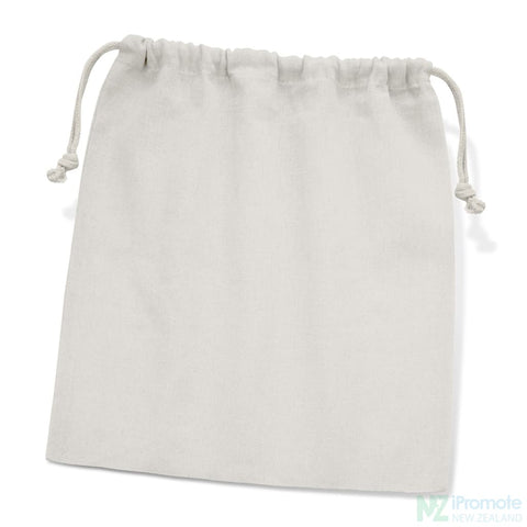 Image of Large Cotton Gift Bag White Drawstring