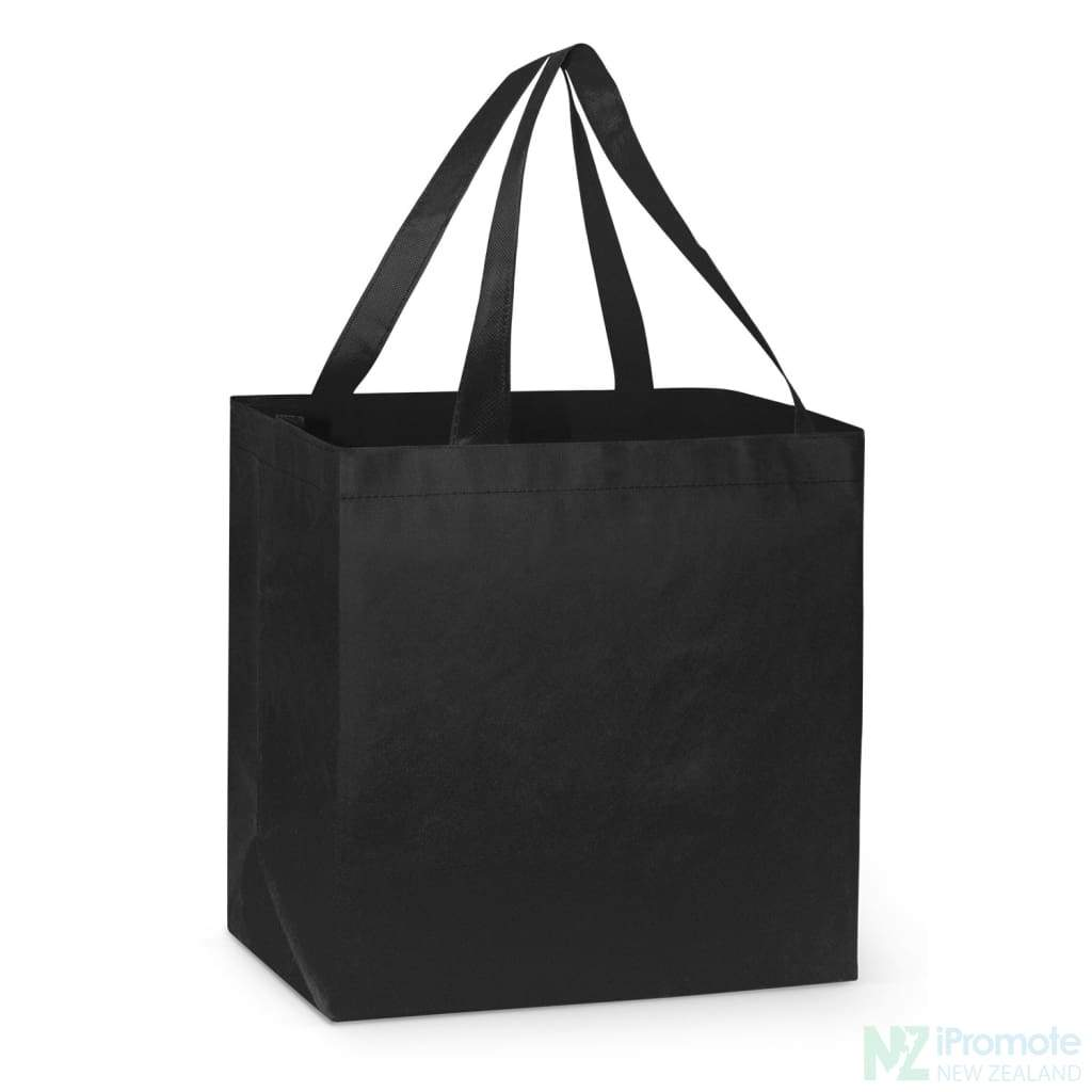 Large Reinforced Shopper Tote Bag Black Bags