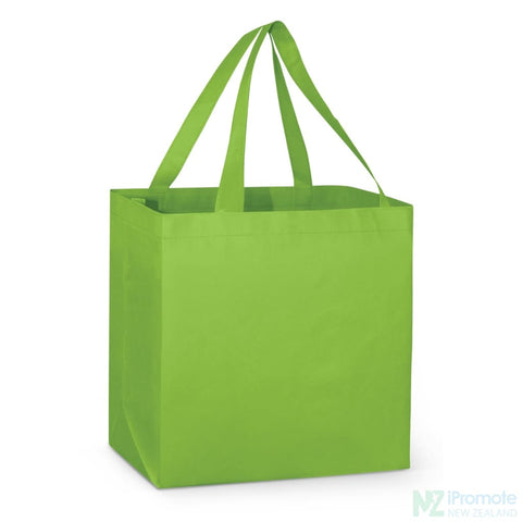 Image of Large Reinforced Shopper Tote Bag Bright Green Bags