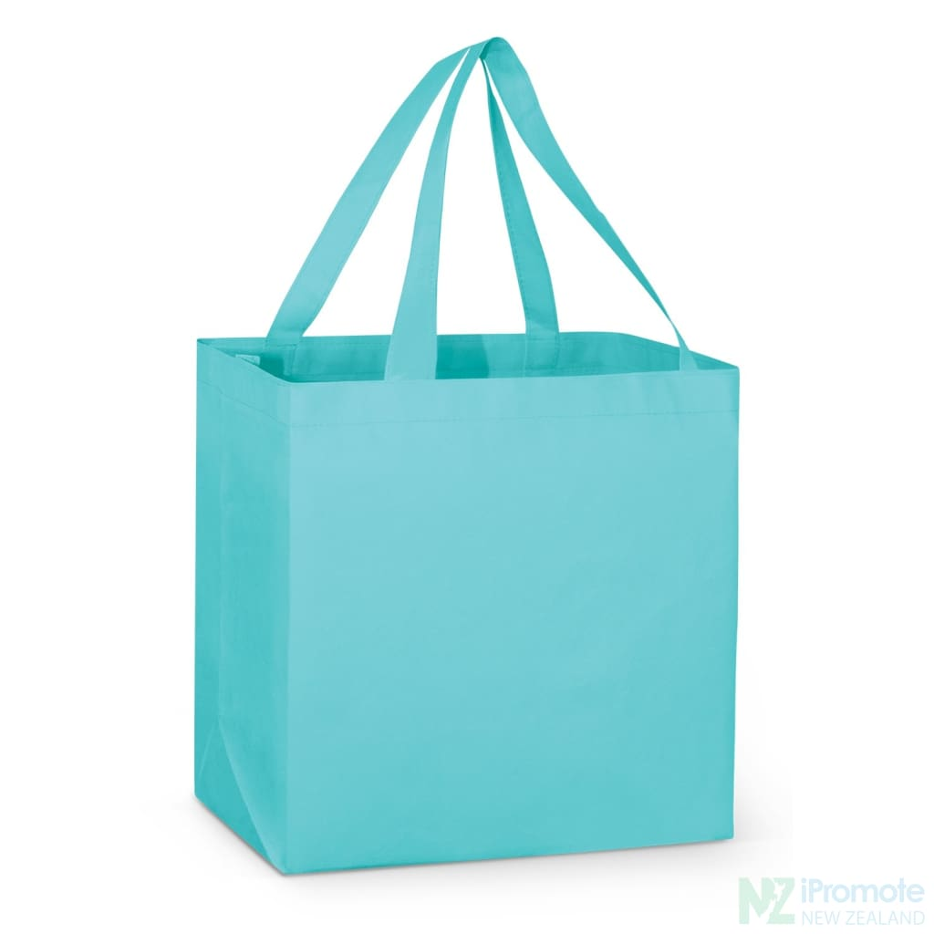 Large Reinforced Shopper Tote Bag Light Blue Bags