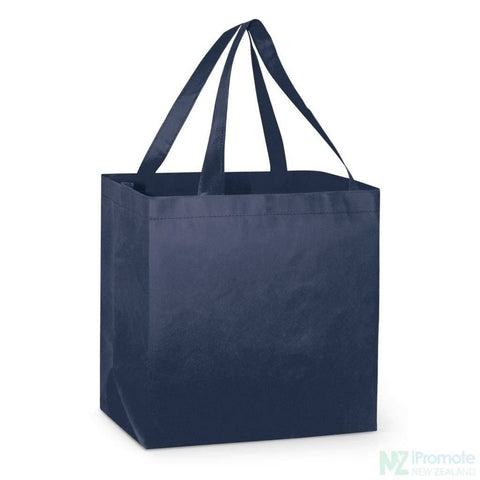 Image of Large Reinforced Shopper Tote Bag Navy Bags