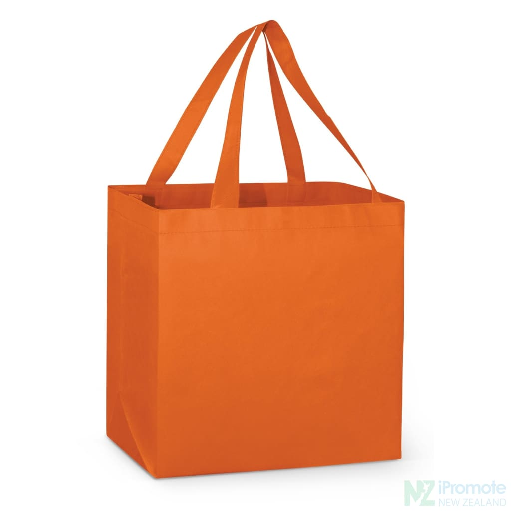 Large Reinforced Shopper Tote Bag Orange Bags