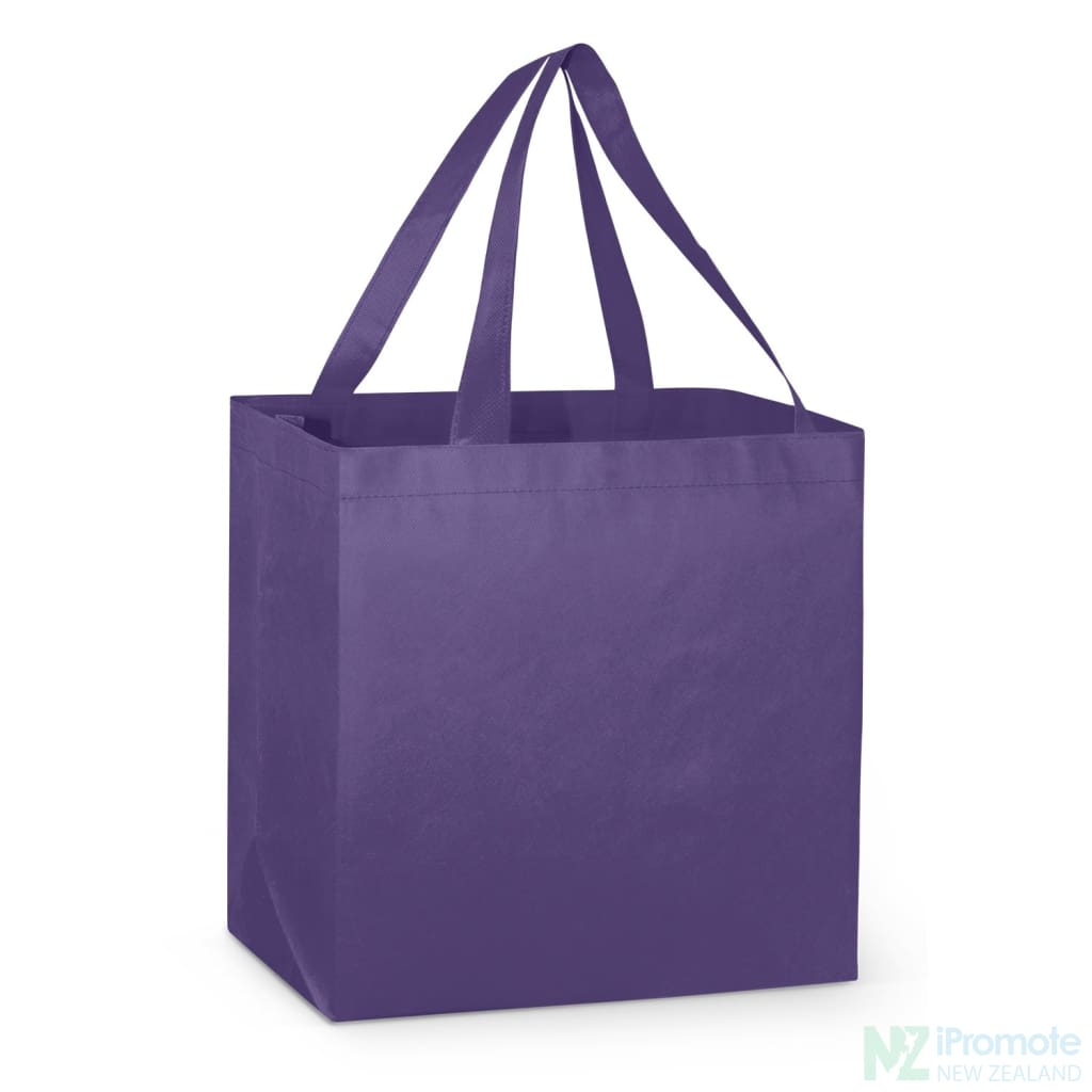 Large Reinforced Shopper Tote Bag Purple Bags