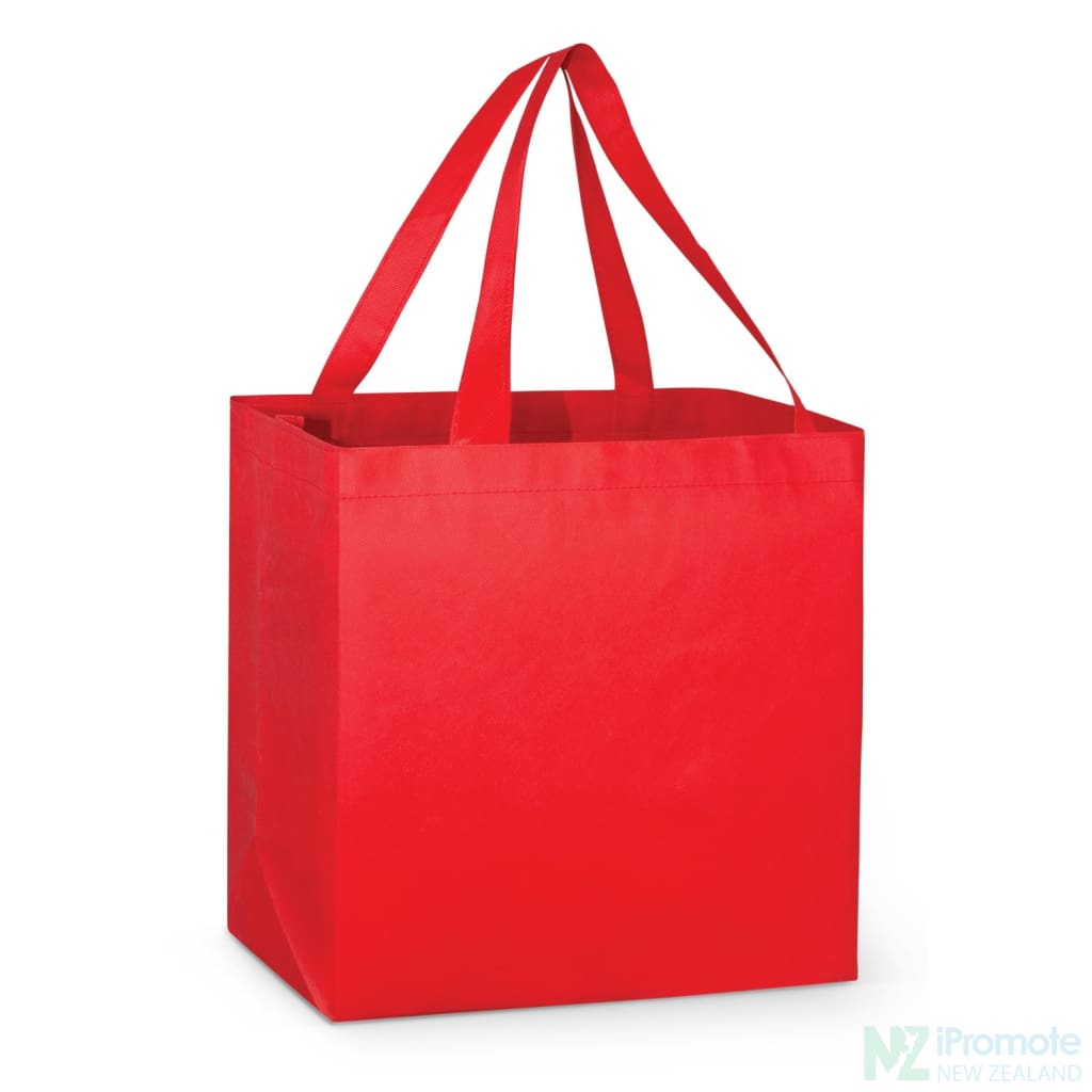 Large Reinforced Shopper Tote Bag Red Bags