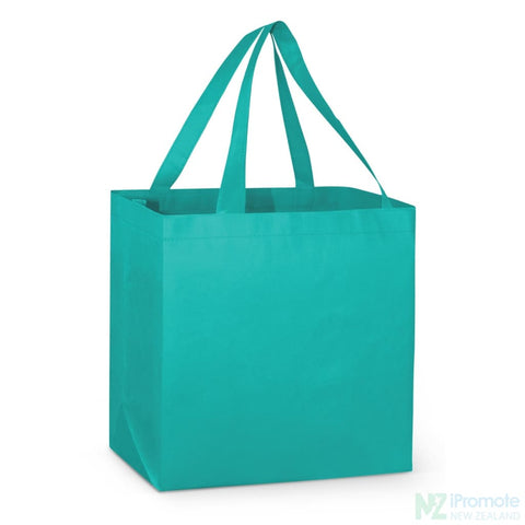 Image of Large Reinforced Shopper Tote Bag Teal Bags
