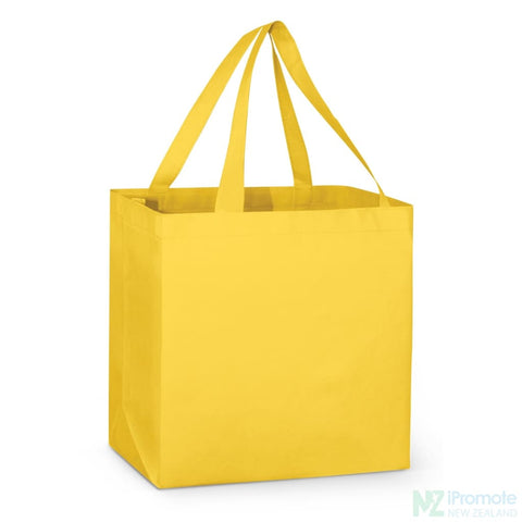 Image of Large Reinforced Shopper Tote Bag Yellow Bags
