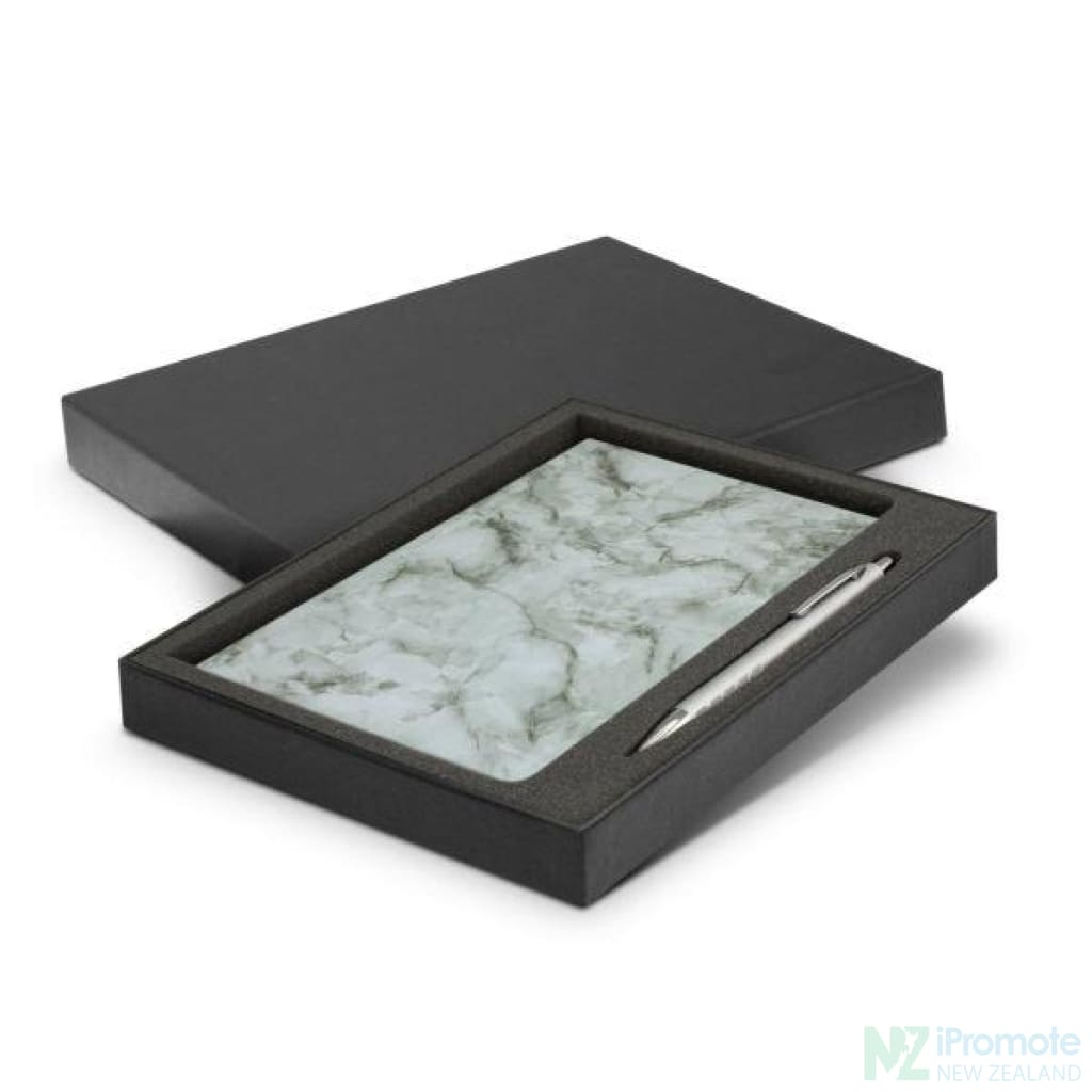 Marble Notebook And Pen Gift Set Notebooks