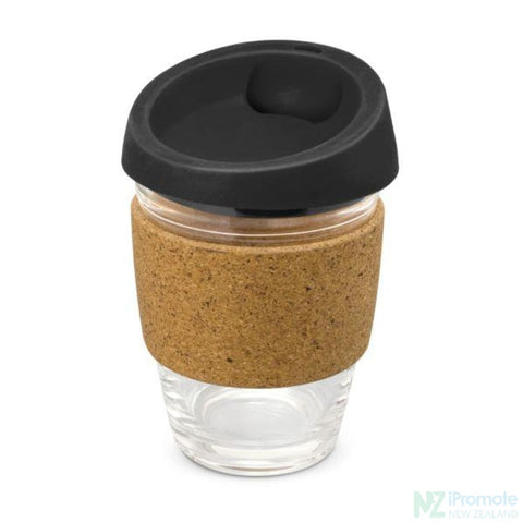 Metro Cup With Cork Band Black Reusable Mugs