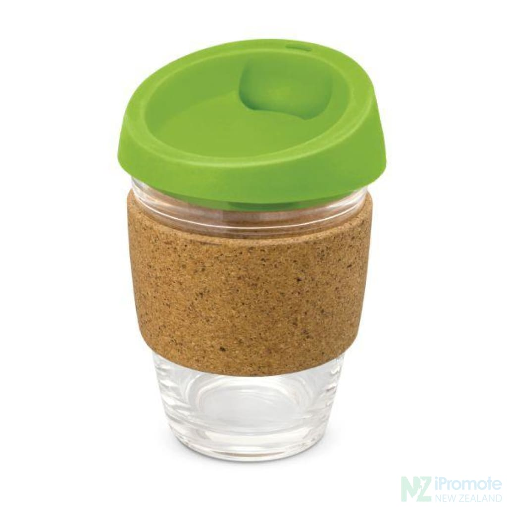 Metro Cup With Cork Band Bright Green Reusable Mugs