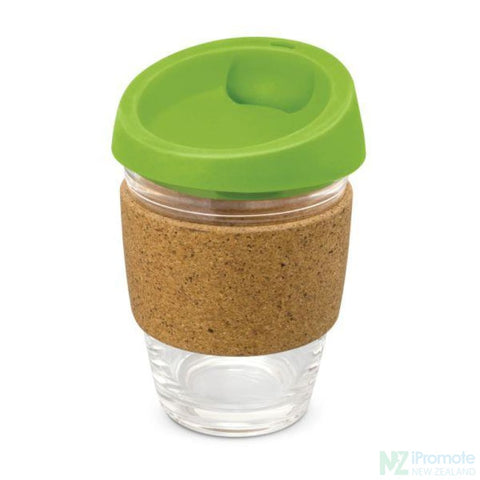 Image of Metro Cup With Cork Band Bright Green Reusable Mugs