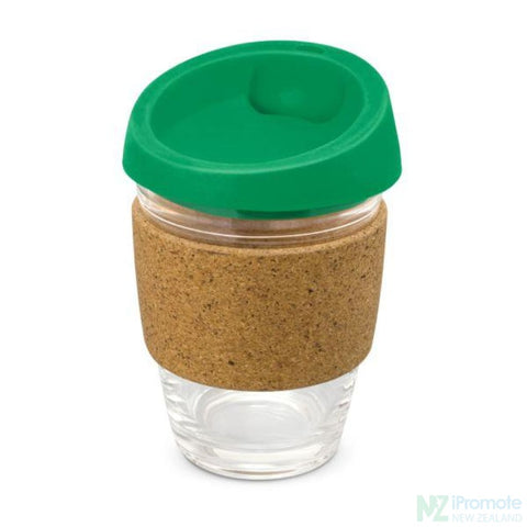Image of Metro Cup With Cork Band Dark Green Reusable Mugs