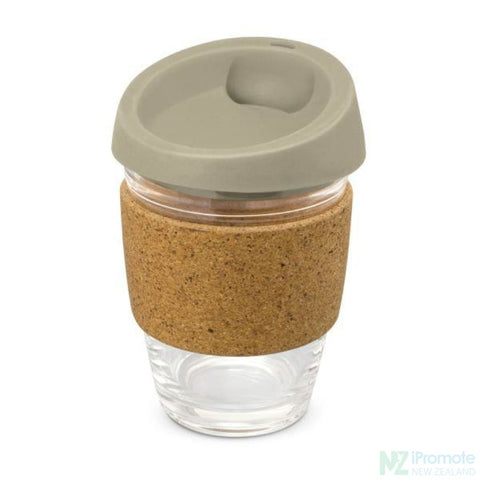 Metro Cup With Cork Band Grey Reusable Mugs