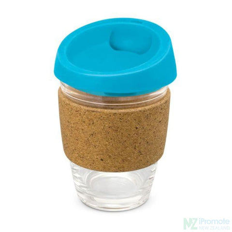 Metro Cup With Cork Band Light Blue Reusable Mugs