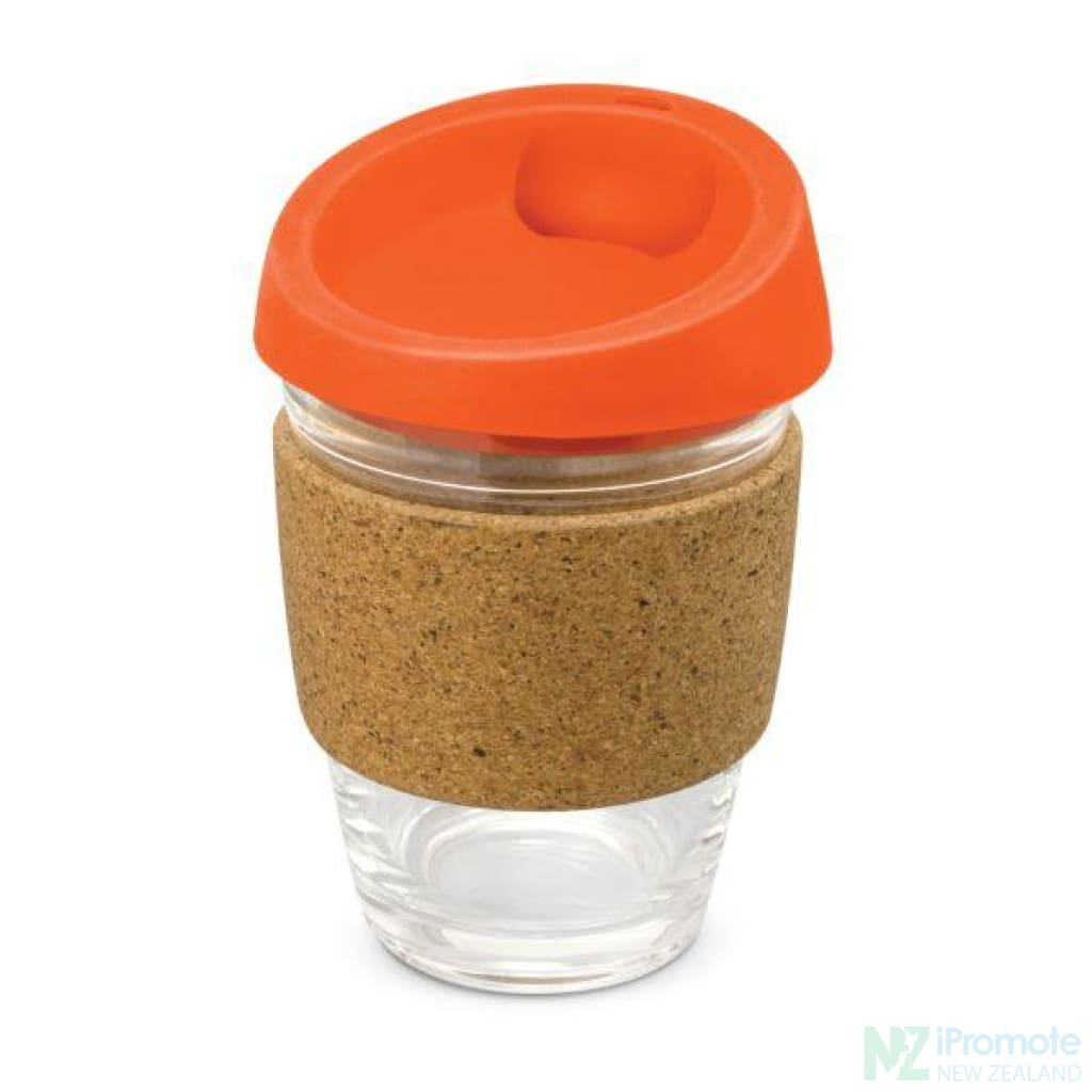Metro Cup With Cork Band Orange Reusable Mugs