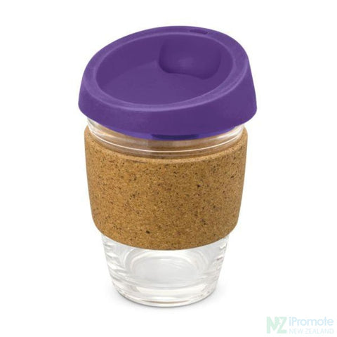 Metro Cup With Cork Band Purple Reusable Mugs