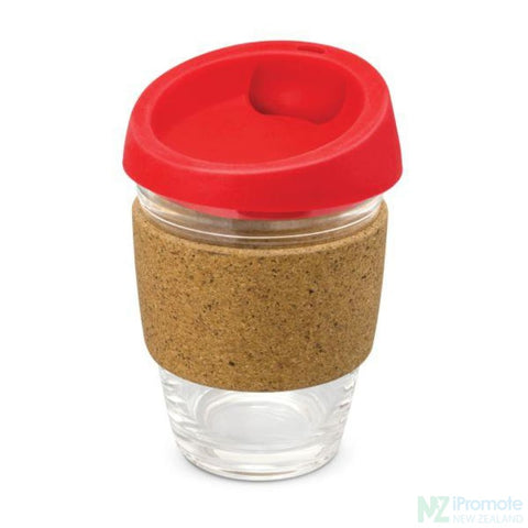 Metro Cup With Cork Band Red Reusable Mugs