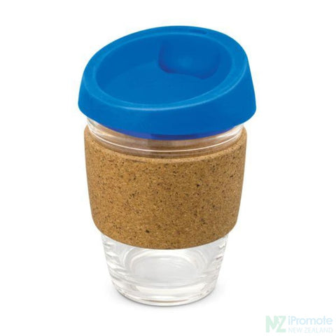 Metro Cup With Cork Band Royal Blue Reusable Mugs