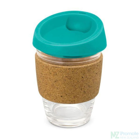 Metro Cup With Cork Band Teal Reusable Mugs