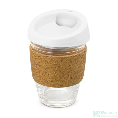 Metro Cup With Cork Band White Reusable Mugs
