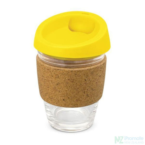 Metro Cup With Cork Band Yellow Reusable Mugs