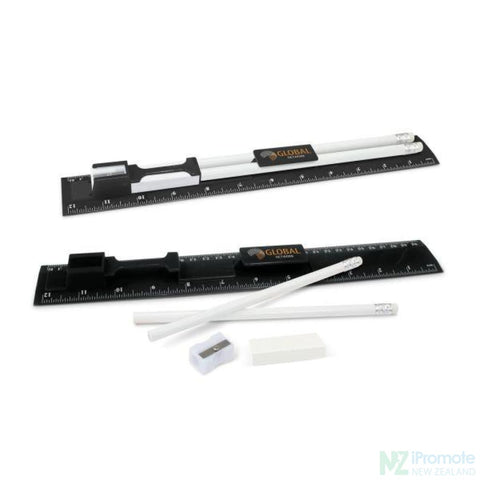 Multi Function 5-1 30Cm Ruler Black Stationary Products