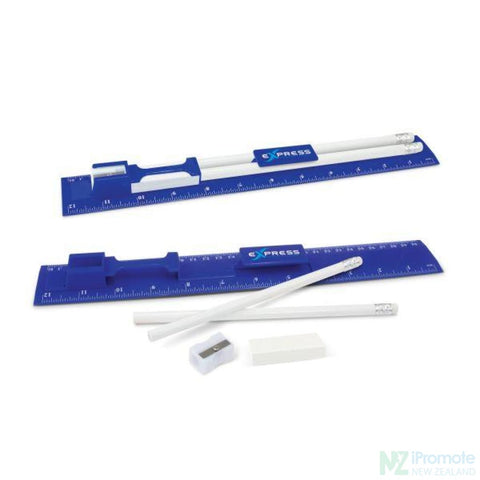 Multi Function 5-1 30Cm Ruler Dark Blue Stationary Products