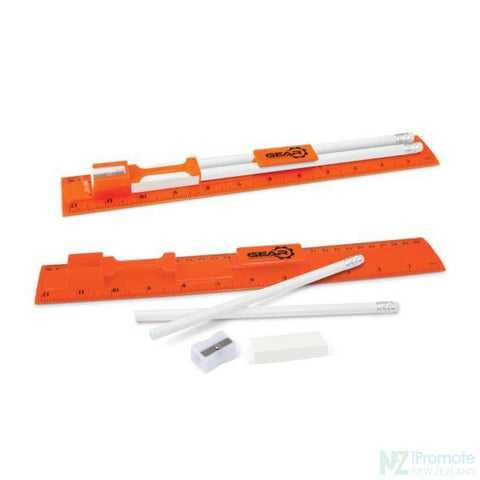 Image of Multi Function 5-1 30Cm Ruler Orange Stationary Products