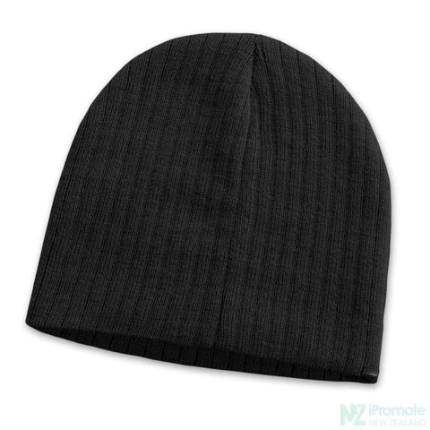 Image of Nebraska Cable Knit Beanie Black Beanies