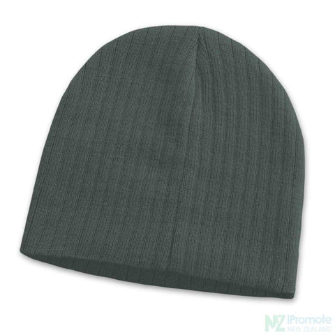 Nebraska Cable Knit Beanie Dark Grey Beanies