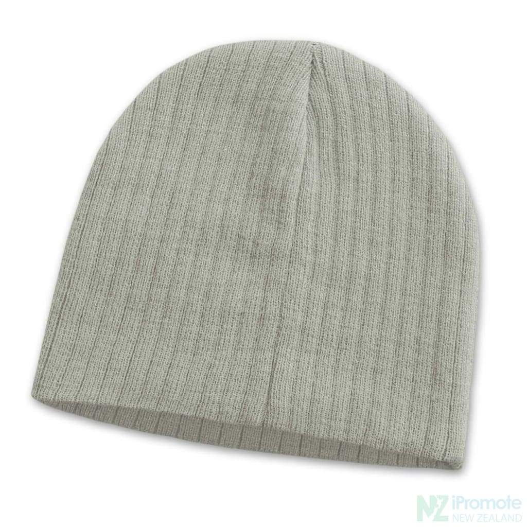 Nebraska Cable Knit Beanie Light Grey Beanies