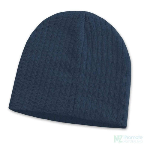 Image of Nebraska Cable Knit Beanie Navy Beanies