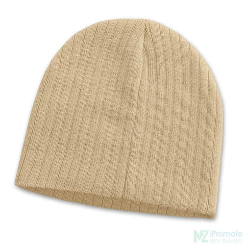 Image of Nebraska Cable Knit Beanie Stone Beanies