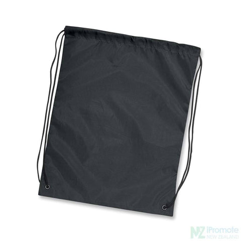 Nylon Drawstring Backpack Black Bag
